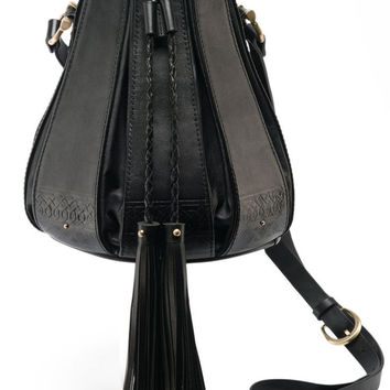 Stella mini bucket bag in black