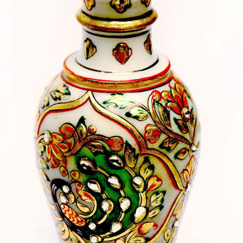 Aakashi Peacock Gold  Flower Vase
