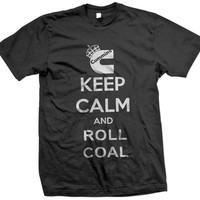 Keep Calm and Roll Coal Rollin' Cummins Dodge Ram Truck Black Smoke Diese T-shirt Tshirts Tees