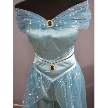 Aladdin  Jasmine  Princess  cosplay  costume  Adult