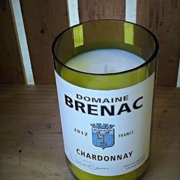 New- Brenac Chardonnay Re-Purposed Bottle Natural Soy Candle