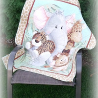Quilt baby blanket or wall hanging handmade baby blanket machine quilt