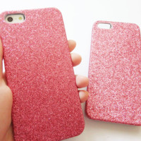 SALE 80-20%OFF: Girly Pink Glitter for iPhone 5 protective cases. Cover. Girly. kawaii