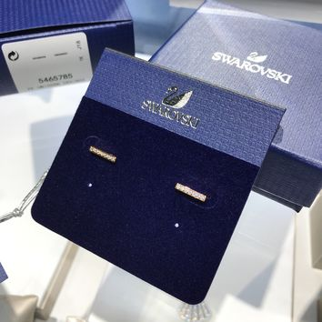 PEAP 1522 Swarovski ONLY refined lines fashion simple refined luster earrings