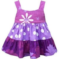 Baby Girl Patchwork Gypsy Dress - Mauve