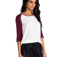 MINKPINK Back To Basics Top in Wine