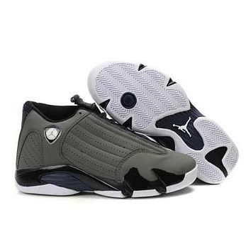 Air Jordan 14 Retro Aj14 Gray/navy Sneaker Shoe Us 8 13 | Best Deal Online