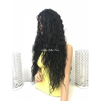 Long wavy lace front wig - Swedish