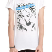Disney Alice In Wonderland Curiouser & Curiouser Girls T-Shirt