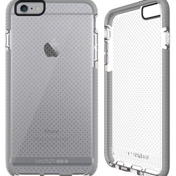 Tech21 Evo Mesh Case for iPhone 6 Plus and iPhone 6s Plus - Clear / Gray