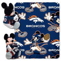 Denver Broncos NFL Mickey Mouse with Throw Combo