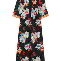 Etro - Embellished floral-print silk maxi dress