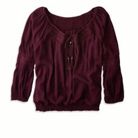 AEO CROPPED V-NECK TOP