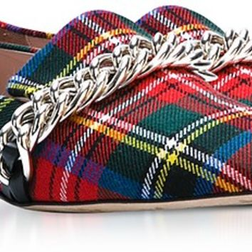 Christopher Kane Red Tartan Chain Loafer