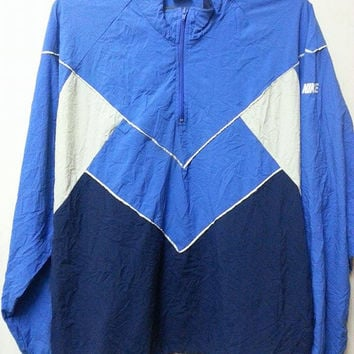 Sale Vintage 1990s Nike Sweater Windbreaker Hip Hop Parka Pull Over Jacket