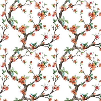 Cheery Cherry Blossom Removable Wallpaper