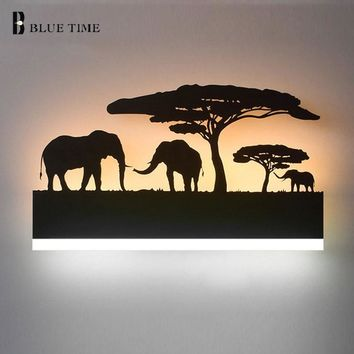 Black Acrylic Creative Modern Led Wall Light For Living Room Beside Room Bedroom Lamps LED Sconce Bathroom Wall Lamp LED Lustres