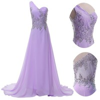 Designer Sheer Long Wedding Ball Gown Evening Party Cocktail Bridal Prom Dresses