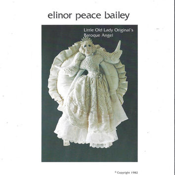 1982 Pattern for Little Old Lady Original's Baroque Angel, Elinor Peace Bailey, UNCUT, Christmas Angel Wreath, Vintage Pattern, Home Sewing