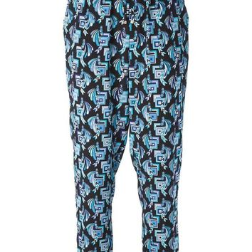 DCCKIN3 Emilio Pucci drawstring waist printed trousers