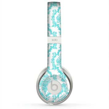 The Fancy Laced Turquiose & White Pattern Skin for the Beats by Dre Solo 2 Headphones