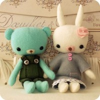 Pocket Teddy And Bunny Pdf Pattern | Luulla