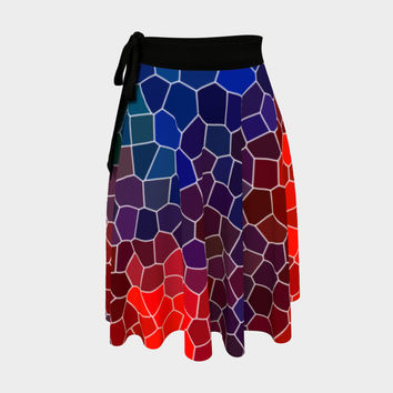 Abstract Mosaic 3 Wrap Skirt Wrap Skirt