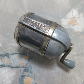 Pencil Sharpener Manual Pencil Sharpener Vintage Pencil Sharpener Boston Pencil Sharpener Vintage Office Supplies School Supplies