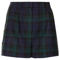 Green Check Wool Shorts - Shorts - Clothing - Topshop