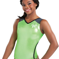 Gabby Sporty Lime Workout Leotard from GK Elite