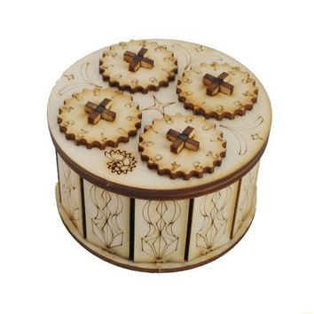 Educational Toy Wooden Mechanical Drive Cryptex gift ideas holiday gift Christmas gift to marry lover  Secret Hide Box