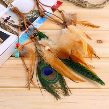 ONETOW Festival Feather Headband Hippie Headdress Hair Accessories Boho  2016 Fashion