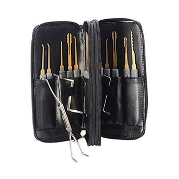 24pcs Leather Packing Titanize Scissors Style Lock Opener And Single Hook Lock Picks = 1932891780