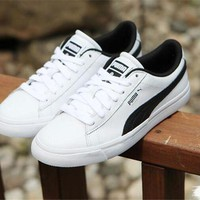 DCCKGV7 Best Online Sale BTS X Puma Court Star White Black Shoes Casual Shoes 366202-01