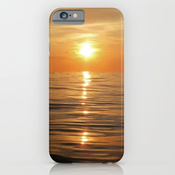 Sun setting over calm waters iPhone & iPod Case by Nicklas Gustafsson