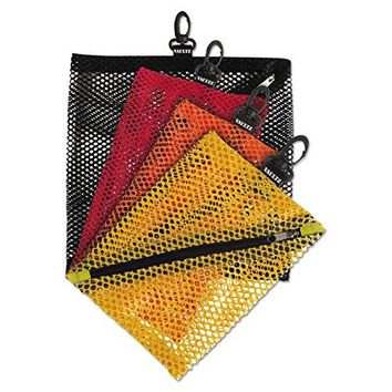 Vaultz Mesh Storage Bags, Assorted Colors and Sizes, 4 Bags (VZ01211)