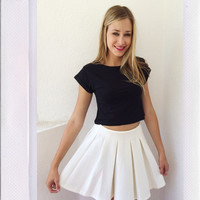 School Daze Skater Skirt- Ivory