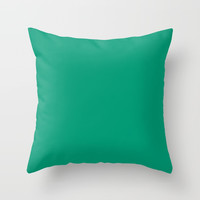 Green with Envy Throw Pillow by spaceandlines
