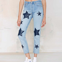 Light Blue Jeans with Star Applique