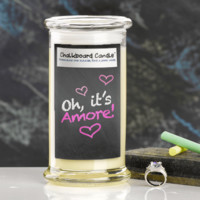 Amore Chalkboard Jewelry Candle