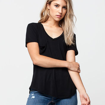 OTHERS FOLLOW Slouch Pocket Womens V-Neck Tee | Essentials