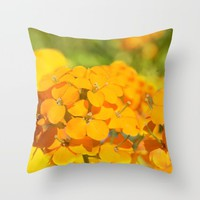 Orange Delight Throw Pillow by Lena Photo Art