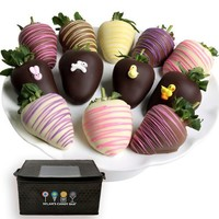 Dylan's Candy Bar Ultimate Easter Belgian Chocolate Covered Strawberries - Dozen
