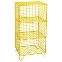 Wire Shelf Unit: Yellow
