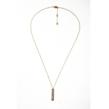 Bold Bar Long Necklace