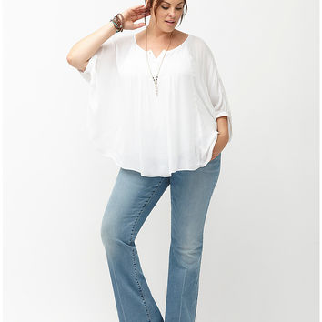 Pintuck Drama Top by Lane Bryant | Lane Bryant