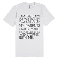 Baby Of The Family-Unisex White T-Shirt