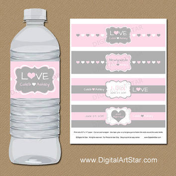 Shop Etsy Water Bottle Labels For Weddings on Wanelo