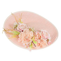 Cambric Pillbox Hat Flower Wedding Church Kentucky Derby Fascinator for Lady