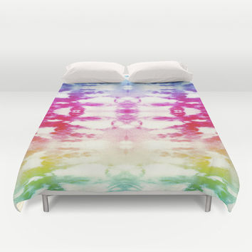 Tie Dye Rainbow Duvet Cover by Nina May Designs